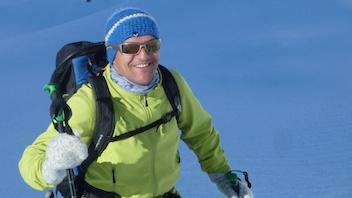 Ich, wo ich am liebsten bin. Auf Ski!